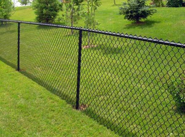 Boulevard Fence Black Vinyl Coated Chain Link Fence